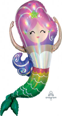 Iridescent Mermaid Supershape Foil Balloon