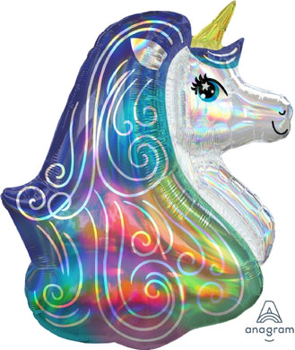 Iridescent Unicorn Supershape Foil Balloon