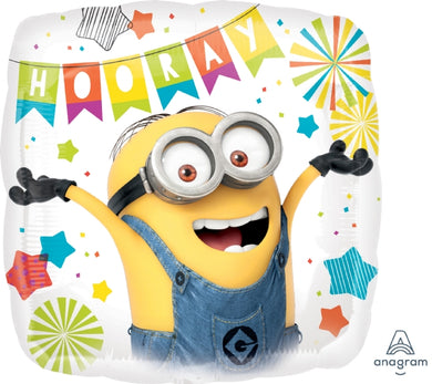 18inch Foil Balloon -  Minions Hooray