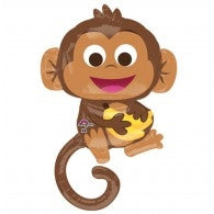 Happy Monkey Supershape Foil Balloon