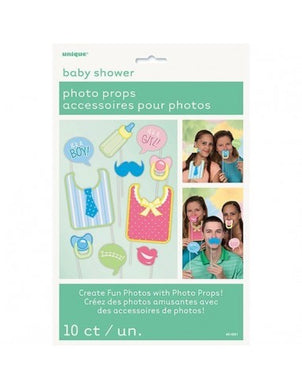 Photo Props Baby Shower 10pk