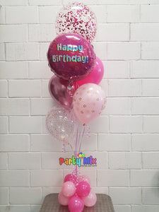 Pink Sparkling Fizz Birthday Bouquet