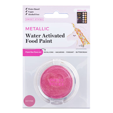 Water Activated Edible Paint: Hot Pink
