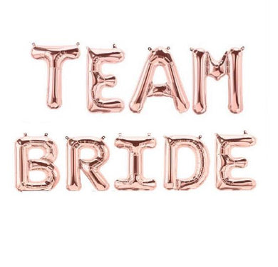Team Bride Air Filled Letters