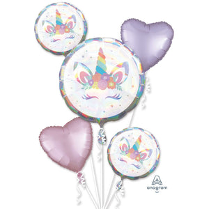 Unicorn Foil Balloon Bouquet