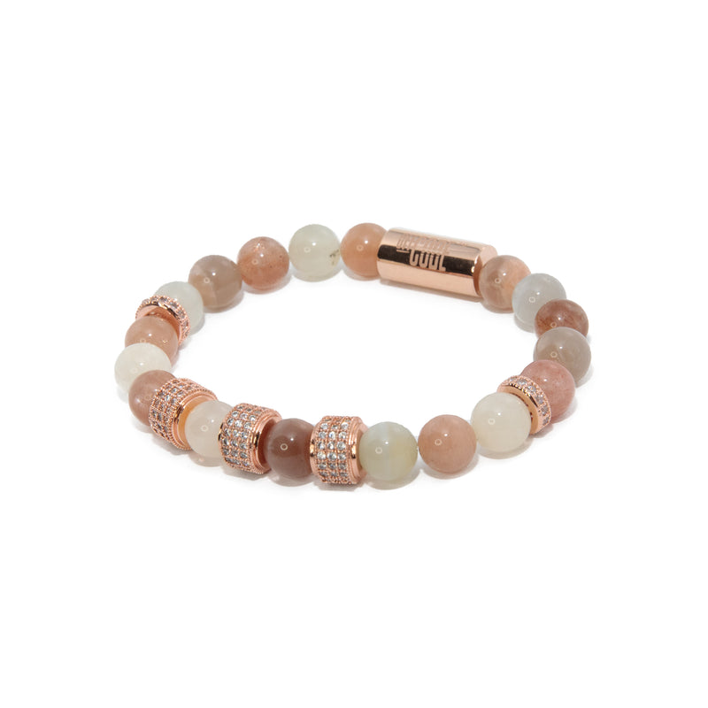 Peach Moonstone X Rose Gold Aventus Bracelet