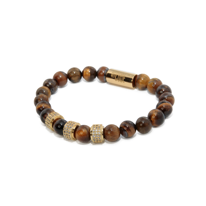 Tiger Eye X Gold Aventus Bracelet