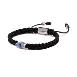 Black String Evil Eye Bracelet