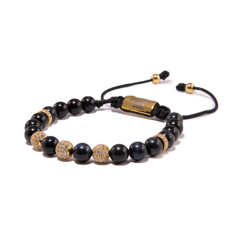 Blue Tiger Eye X Gold Aventus Bracelet- Limited Edition