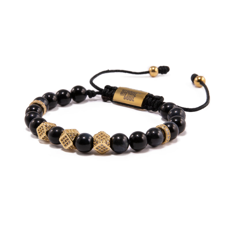 Blue Tiger Eye X Gold Aventus Bracelet 2.0