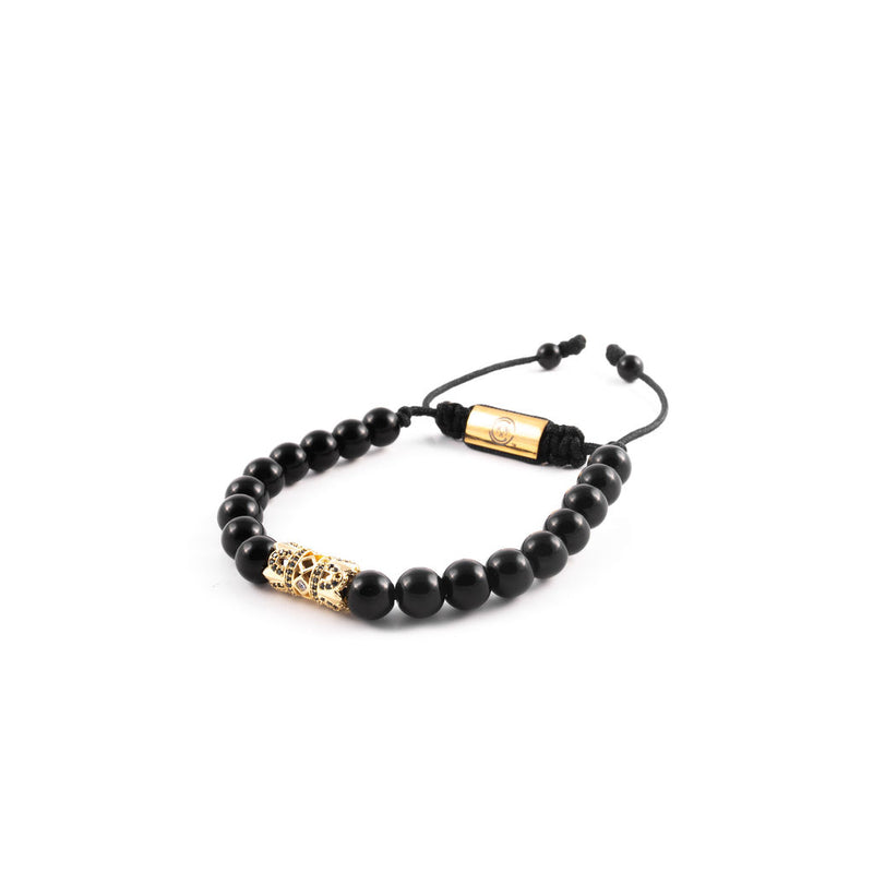Black Onyx X Gold Invictus Bracelet