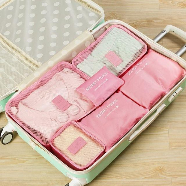 6PCS Travel Mesh Bag Gepäck Organizer