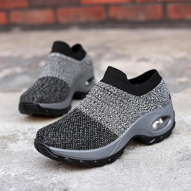 Women's  air cushion thick-soled sports and leisure fashion mesh shoes