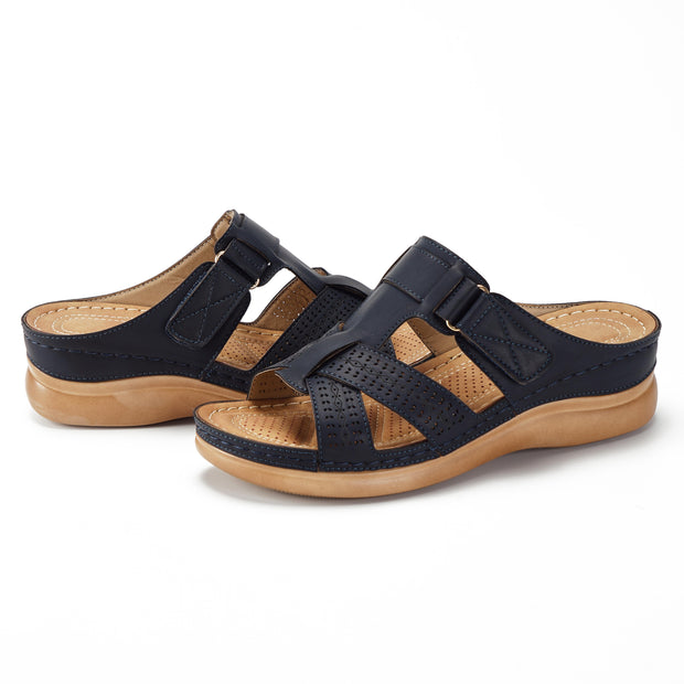 Damen Sommerschuhe Open Toe Hook Loop Sandalen