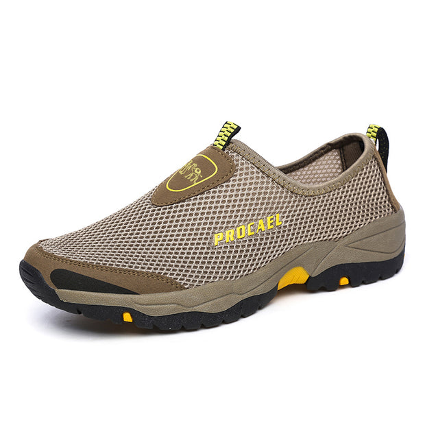 Herren Mesh Schuhe Breathable Hollow Explosion Lazy Schuhe