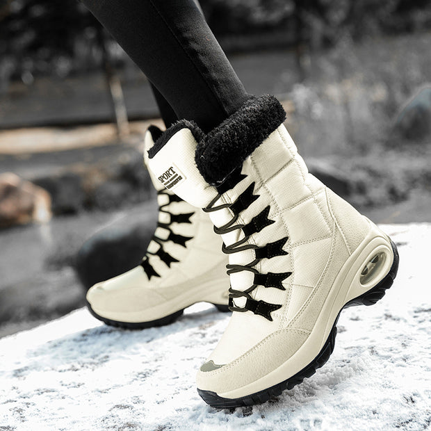 Outdoor Plus Velvet High Shoes Kissen Thick Bottom Hiking Snow Boots