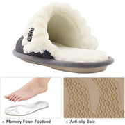 Damen blinkende Slipper Memory Foam Damen Fuzzy Knit Slipper