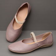 Damen Large Size Solid Color Slip On rutschfeste Casual Flats