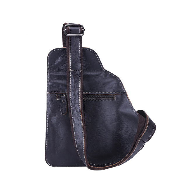Herren BULLCAPTAIN Ledertasche Casual Korean Leder Brusttasche Outdoor Sports Schultertasche Messenger Bag