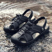 Herren Anti-Kollisions-Anti-Rutsch Outdoor Casual Ledersandalen in Übergröße