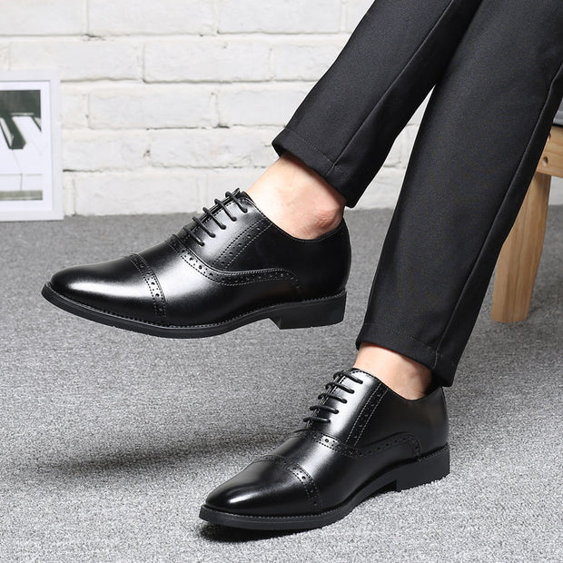 Herren Large Size Brogue Cap Toe Business Kleid Schuhe Casual Oxfords