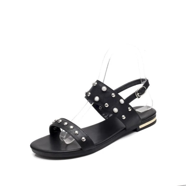 Frauen Casual Daily Low Heel Buckle Strap Sandalen