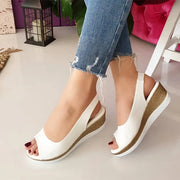 Frauen Simple Style Low Wedge Schuhe