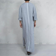 Herren Vintage Style Kaftan Robe Loose Comfy Simple Tuniken