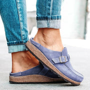 Frauen Casual bequeme Clogs Veloursleder Slip On Sandalen