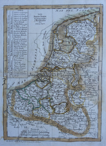 17 provinciën Netherlands Map of the XVII Provinces - T Lopez - 1792