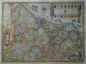 17 provinciën Netherlands Map of the XVII Provinces - JB Vrients - 1609