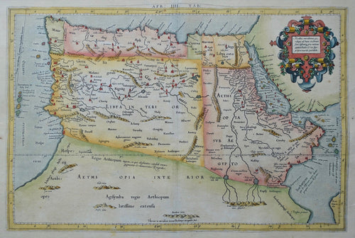 Noord-Afrika North Africa Nile source Ptolemy map - P Bertius / G Mercator / C Ptolemaeüs - 1618