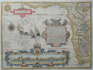 Afrika South and West Africa - Jan Huygen van Linschoten / Arnold Floris van Langren - ca 1596