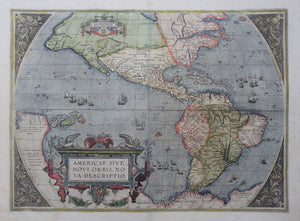 Amerika Noord- en Zuid-Amerika Americas North and South America - A Ortelius - 1592