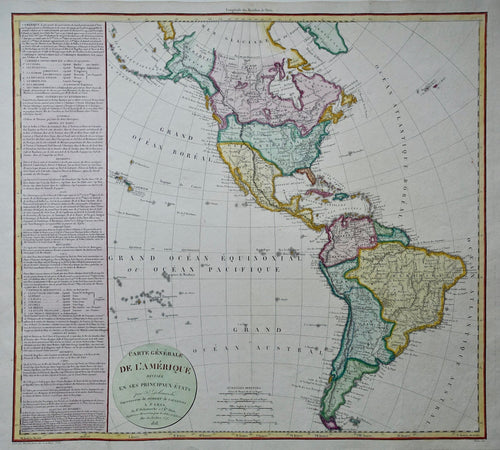 Amerika North and South America - F Delamarche - 1818
