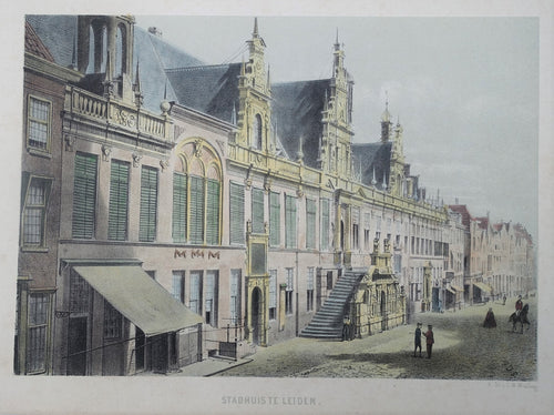 Leiden Stadhuis - CW Mieling - 1863