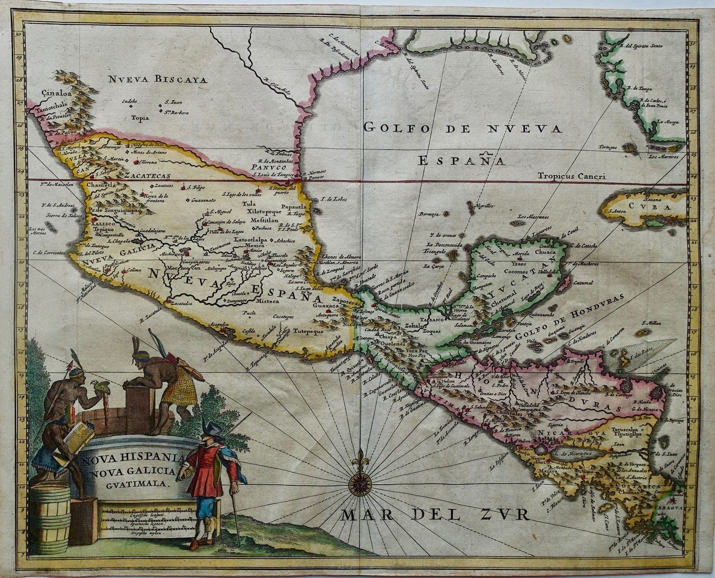 Centraal-Amerika Mexico Central America - A Montanus - 1671
