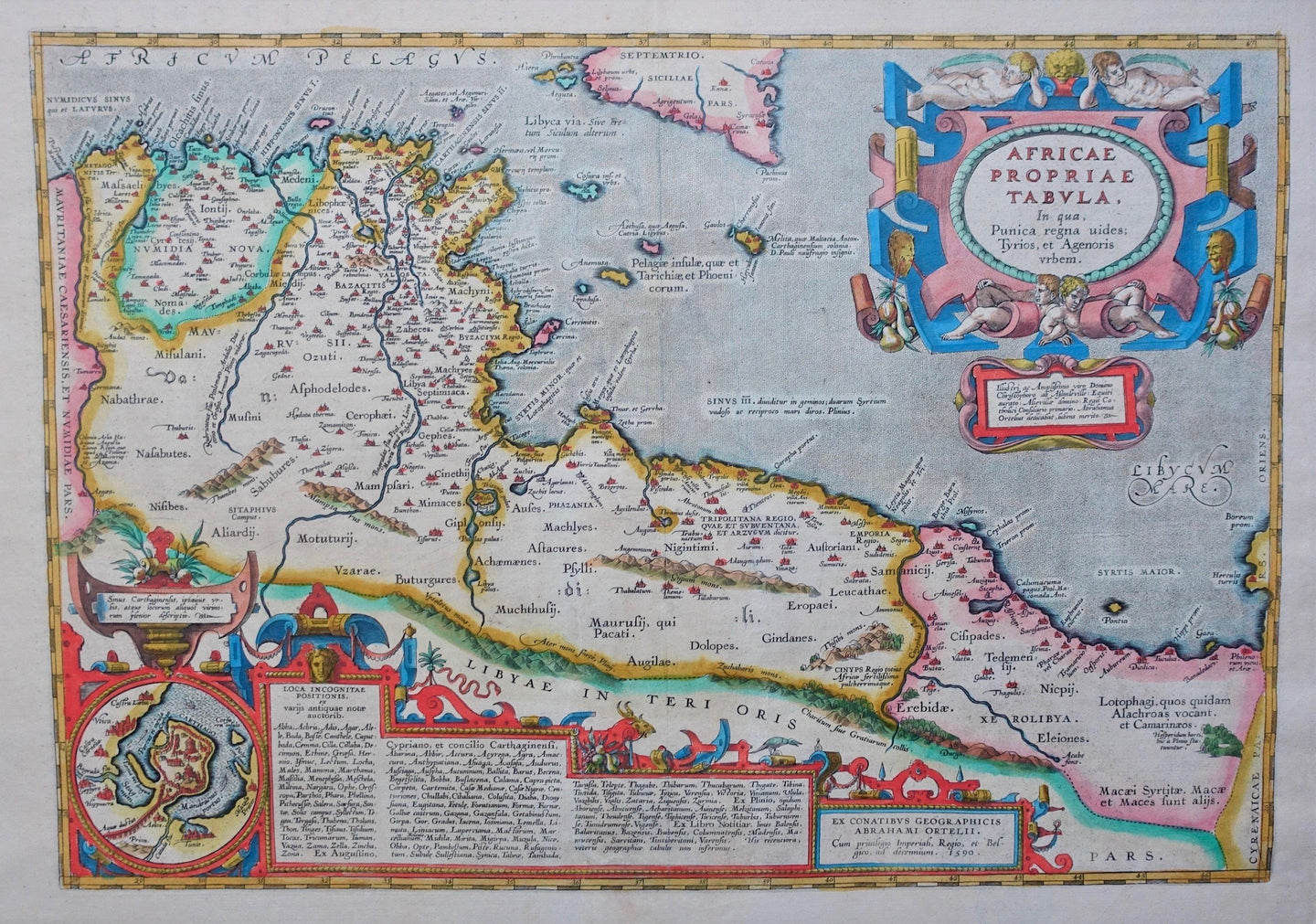 Noord-Afrika Carthaagse Rijk North Africa - A Ortelius - 1601