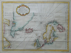 Noord-Europa Groenland North Atlantic - JN Bellin - 1758