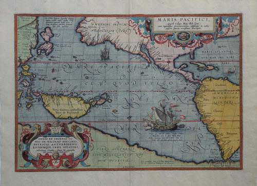 World Pacific - A Ortelius - 1592