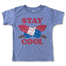 "Retro Blue ""Stay Cool"" youth popsicle tee-Lil Bit Local"