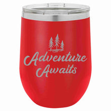 """Adventure Awaits"" - 12oz Stemless Wine Tumbler"