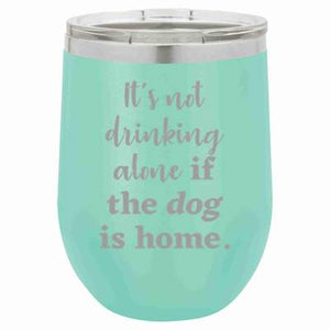 Dog Stemless Wine Tumbler - 12 oz, multiple color options