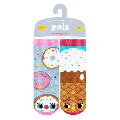 Pals Socks - NEW Donut & Ice Cream Pals Artist Kids Mismatched Food Socks