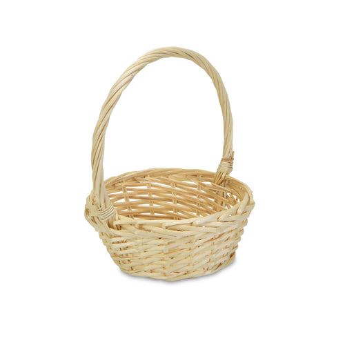 Handmade Willow Handle Basket
