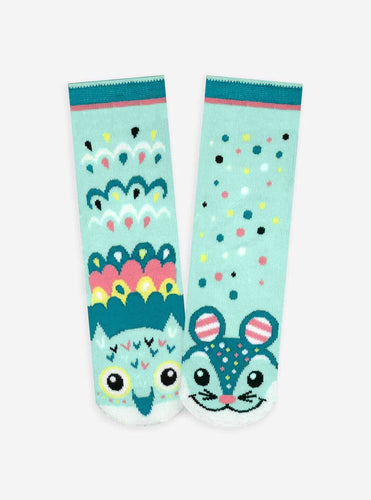 Pals Socks - Owl & Mouse Artist Series Kids Mismatched Animal Socks