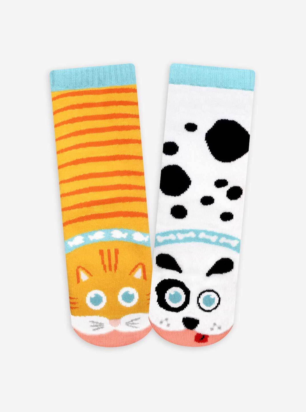 Pals Socks - Cat & Dog Kids Collectible Mismatched Animal Socks