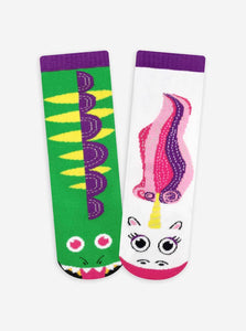 Dragon & Unicorn Kids Mismatched Socks