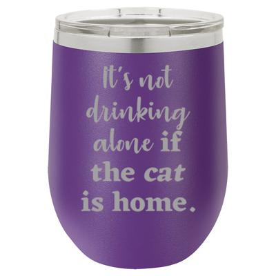 Cat Stemless Wine Tumbler - 12 oz, multiple color options
