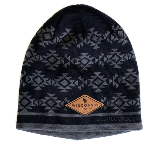 Wisconsin Wool Skull Cap - Cold Weather Hat